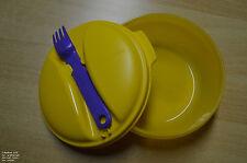 Tupperware Salat & Go klein, 600ml Dose mit dichtem Deckel und Gabel wie neu!