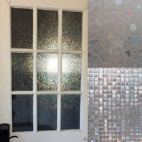 3D Static Cling Home Window Film Stained Glass Paper Frosted Decor Privacy x 1