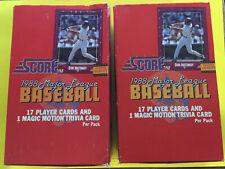 1988 Score Baseball Unopened Wax Box - 2 box lot!
