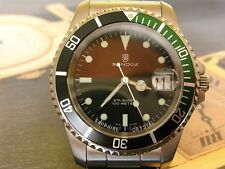 NEW SANDOZ SUBMARINER SAPPHIR GREEN/BLACK BEZEL 100M MENS QUARTZ MENS WATCH