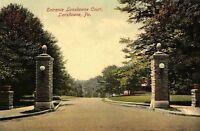 C.1910 Entrance Lansdowne Court, Lansdowne, Pa. Vintage Postcard P137