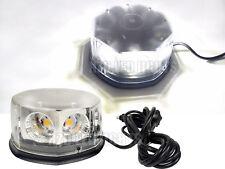 40W COB LED Flash Emergency Warning Light Rotating Roof Beacon Strobe Lamp White