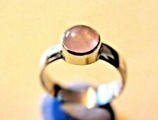 One of my hand made  rings solid sterling silver a Rose quartz stone, size O,