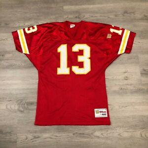 Vintage Steve Bono #13 Kansas City Chiefs Mens Wilson Red Jersey Size Large / 46