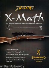 2009 BROWNING X-Bolt Hunter Rifle AD Vintage Hunting Advertising