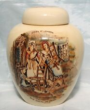 "Vintage Crown Devon Cries of London Lidded GInger Jar ""Old Chairs to Mend"""
