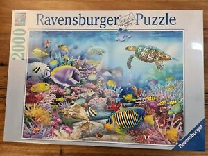 Coral Reef Jigsaw Puzzle 2000pc ravensburger Animal Ocean Turtle Fish Beach Coas