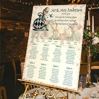 Personalised Wedding Table Seating Plan-ALICE IN WONDERLAND-4 SIZES AVAILABLE