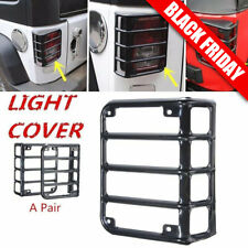 Tail Light Guards Cover Rear Lamps Trim Cover For 2007 2017 Jeep Wrangler Jk Hm