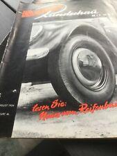 MOTOR RUNDSCHAU Heft 15 1954 Fiat 1400 D Reifen