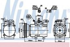 New Compressor air conditioning for HYUNDAI-KIA 89276 Nissens Top Quality