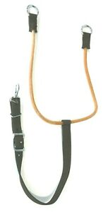 Brown Nylon Training Martingale w/Surgical Tubing