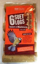 Suet to Go Suet Logs Wild Bird Food Insect 6pk X 6