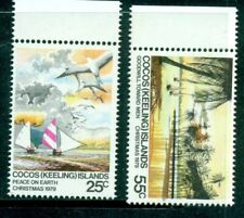 Cocos Islands 1979  Christmas   2 values  MNH