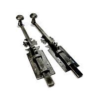 Outil ancien superbe paire de loquets de porte en ferronnerie XXème
