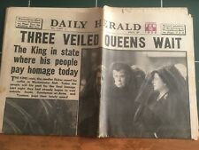 """New listing Feb 12 1952 Daily Herald """"Three Veiled Queens wait"""""""