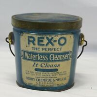 REX-O Tin Can Waterless Cleanser Berry Chemical & Mfg Co Chicago Vintage