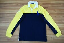 RALPH LAUREN POLO RUGBY SHIRT JERSEY BIG LOGO PONY LONGSLEEVE YOUNG L (14-16)