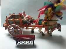 MODIFIED MONTERO  HORSE DRAWN TIMBER FUNERAL CART with CHURCH TRUCK  and COFFIN