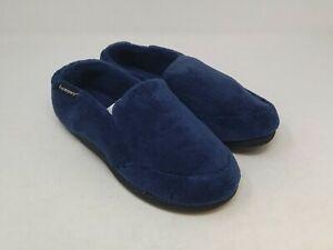 Isotoner Men's Navy Slippers Size 8-9 US
