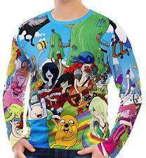 Adventure Time Herren Langarm T-Shirt Tee wa2 aao30418