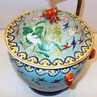 Superb Antique QING CHINESE CHINA Enamel Ceramic Jar Vase LAMP LOBSTER CRANE