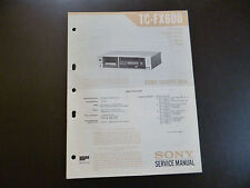 Original Service Manual Sony TC-FX600