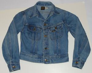 VINTAGE BOY'S LEE RIDERS DENIM JACKET! UNION  LABEL! GREAT COLOR! MADE IN USA 12