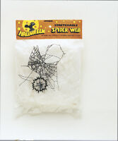 Stretchable SPIDER WEB withSpider - Halloween Party Decoration Fake Spider Web