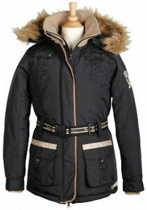 Übergangsjacke Winter Jacke Gr. XL-Allendale-Top Qualität Schwarz mit Kapuze NEU