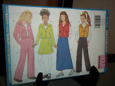 Butterick #5780 Sewing Pattern Girls Top Vest Skirt Pants Size 12 14 16 Uncut FF