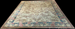 A Must See Antique Unusual Geometric Art Deco Chinese Rug