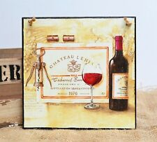 Decorative wall hanging plaque/picture Red Wine Cabernet Sauvignon  French drink