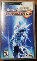 Dynasty Warriors: Strikeforce (Sony PSP, 2009) CIB Complete in Box Manual
