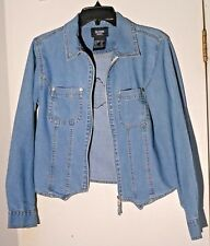Harley Davidson Ladies Thin Blue Denim Jacket- Size S by Solutions