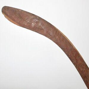 A Large Aboriginal hunting Boomerang. Central Australia.