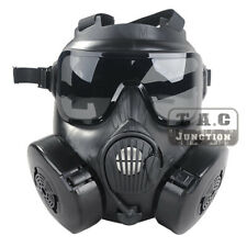 Airsoft M50 Gas Mask Double Filter Fan CS Edition Perspiration Full Face Guard
