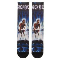 AC/DC ANGUS YOUNG BALLBREAKER SUBLIMATED PREMIUM ALL OVER PRINT CREW SOCKS RETRO