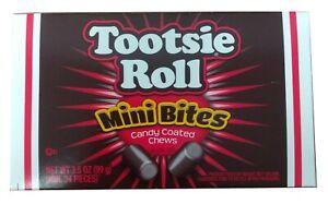 American Tootsie Roll Mini Bites Box 3.5oz (99g) Candy Coated Chews USA Import