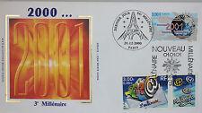 ENVELOPPE PREMIER JOUR - 9 x 16,5 cm - ANNEE 2000 - NOUVEAU MILLENAIRE