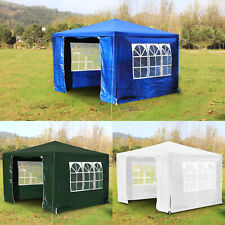More details for 3x3m heavy duty gazebo marquee canopy waterproof garden patio party tent w/sides