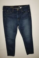 J Crew Midrise Toothpick Jeans Womens Sz 31 Reg Dark Wash Denim