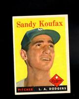 1958 Topps # 187 Sandy Koufax Ex-Mt
