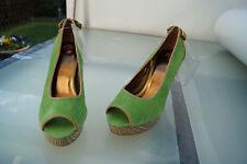 Bruno Banani Damen Schuhe Pumps High Heels Abendschuhe Leder Gr.40 grün NEU