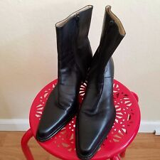 Women's Black Leather Boots Size 8 by Caslon
