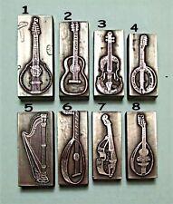GUITAR,BANJO,MANDOLIN,VIOLIN,VIOLA,HARP Printing Blocks.