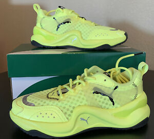 Puma Womens Neon Rise Pack Running Shoes Fizzy Yellow 372444 01 Size 6 New
