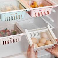 1PC Adjustable Fridge Storage Rack Kitchen Refrigerator Freezer Drawer Organizer