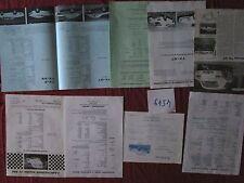 N°4549  /  FAIRTHORPE dépliant et fiches techniques 1966-1974