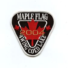 RCAF CAF Canadian 4 Wing Cold Lake 2004 Maple Flag Colour Crest Patch